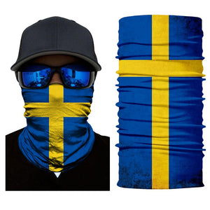 3D National Flag Print Neck Balaclava-Scarf of Many Countries / Sun Protective Neck Tube Headwear