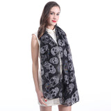 Alternative Fashion Sugar Skull Printed Scarf / Women's Shawl Wrap Accessories in Rock Style - HARD'N'HEAVY