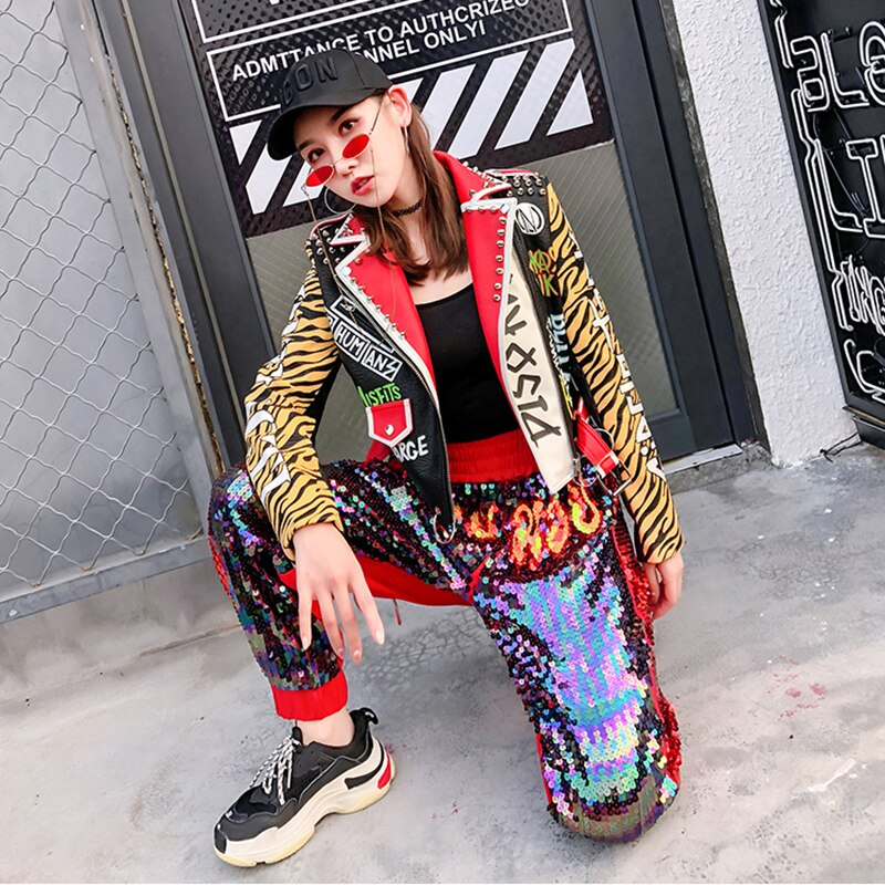 Alterntaive Fashion Pu Leather Short Jacket / Wocker Chick Clothes with Print - HARD'N'HEAVY