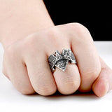 American Biker Eagle Ring / Stainless Steel Rock Fashion / Personality Signet Jewelry - HARD'N'HEAVY