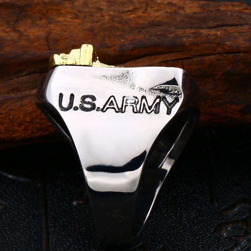 American the Airborne Screaming Eagle Stainless Steel Ring / Personality Rock Style Jewelry - HARD'N'HEAVY