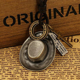 Antique Cowboy Hat Leather Rope Pendant Necklaces / Western Style Accessories - HARD'N'HEAVY
