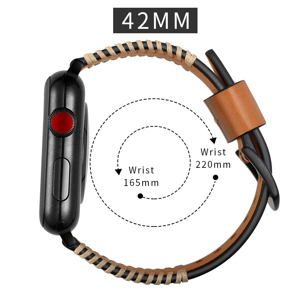 Apple Watch Genuine Leather Band 38mm 42mm Series 2 3 4 5 - HARD'N'HEAVY