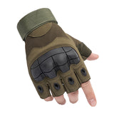 Army Men Tactical Gloves / Sports Half Finger Military Combat Anti-Slip Carbon Fiber Shell Rock - HARD'N'HEAVY