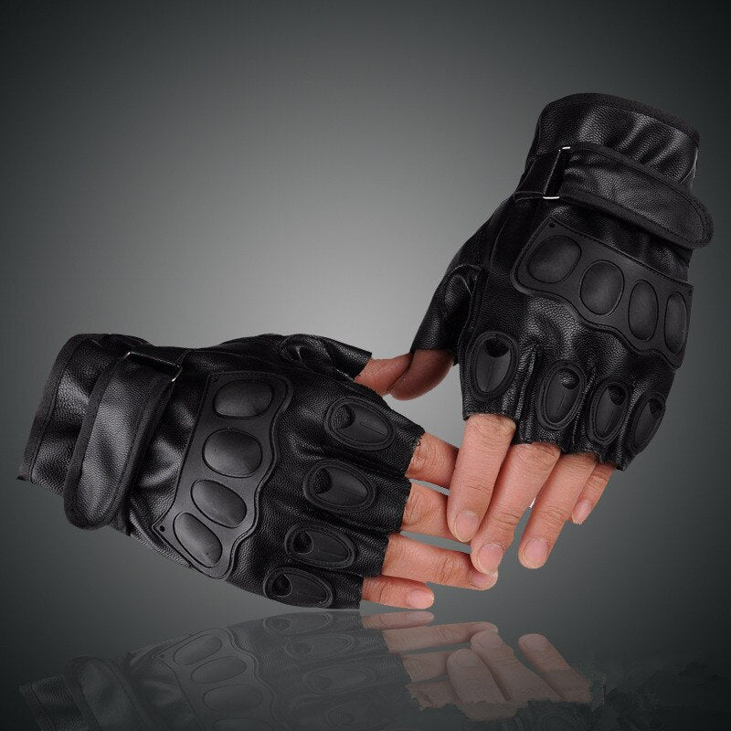 Army Tactical Gloves / Outdoor Sports Half Finger Combat Motorcycle Rock Style brutal Unisex Gloves - HARD'N'HEAVY