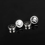 Back Stud Skull Screw Earrings / Stainless Steel Earring Jewelry - HARD'N'HEAVY