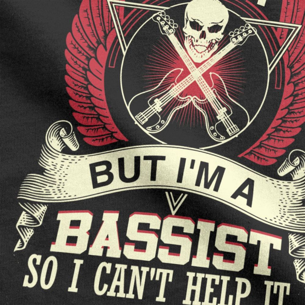 Bass Guitar T-Shirts / Rock Style Men Music Vintage Band Tees / Alternative Clothing - HARD'N'HEAVY
