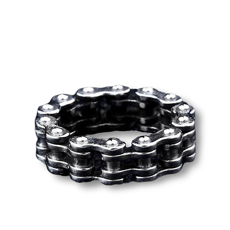 Biker Chain Stainless steel Ring / Rock Style Jewelry For Men and Women - HARD'N'HEAVY