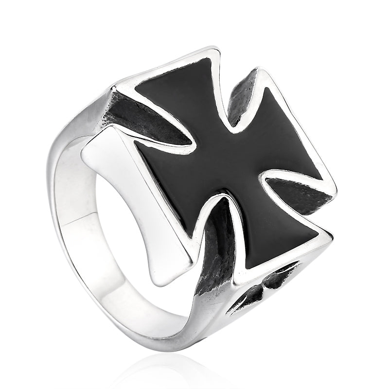 Biker Unique Titanium Celtic Cross Ring / Rock Style Stainless Steel Quality Jewelry - HARD'N'HEAVY