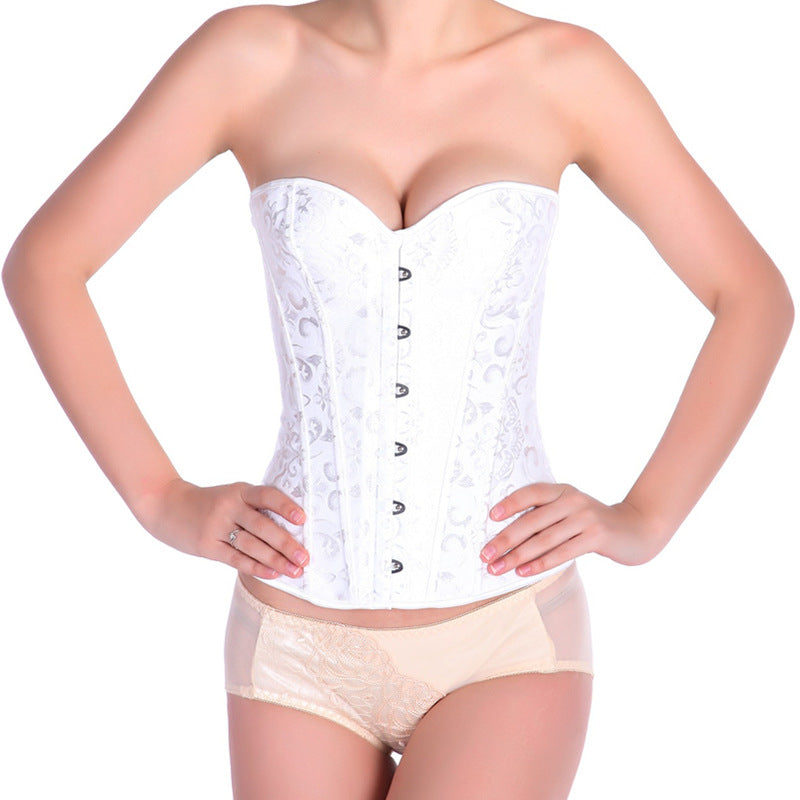 Black Built Belly-closure Corset / Women's Corset Tops / Gothic Underwear - HARD'N'HEAVY
