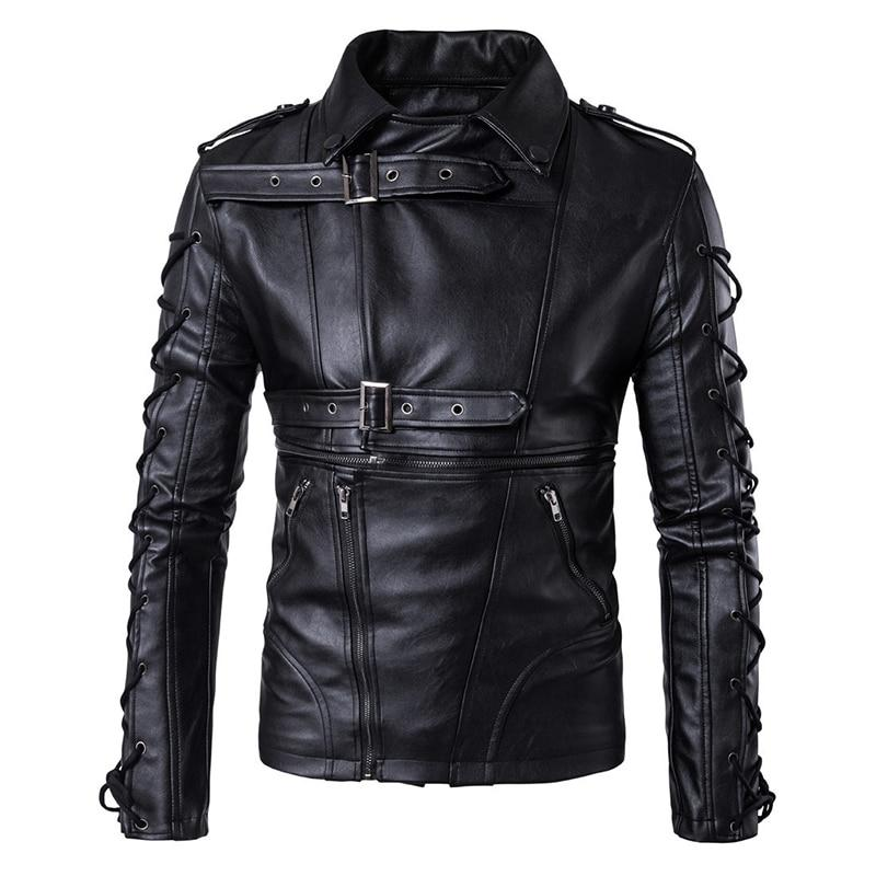 Black Rock Style Biker Jacket with Buckles / Alternative Fashion Edgy Clothing - HARD'N'HEAVY