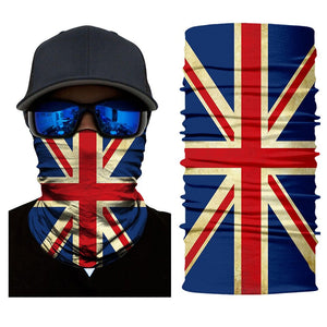 British 3D National Flag Print Neck Balaclava-Scarf / Sun Protective Neck Tube Headwear