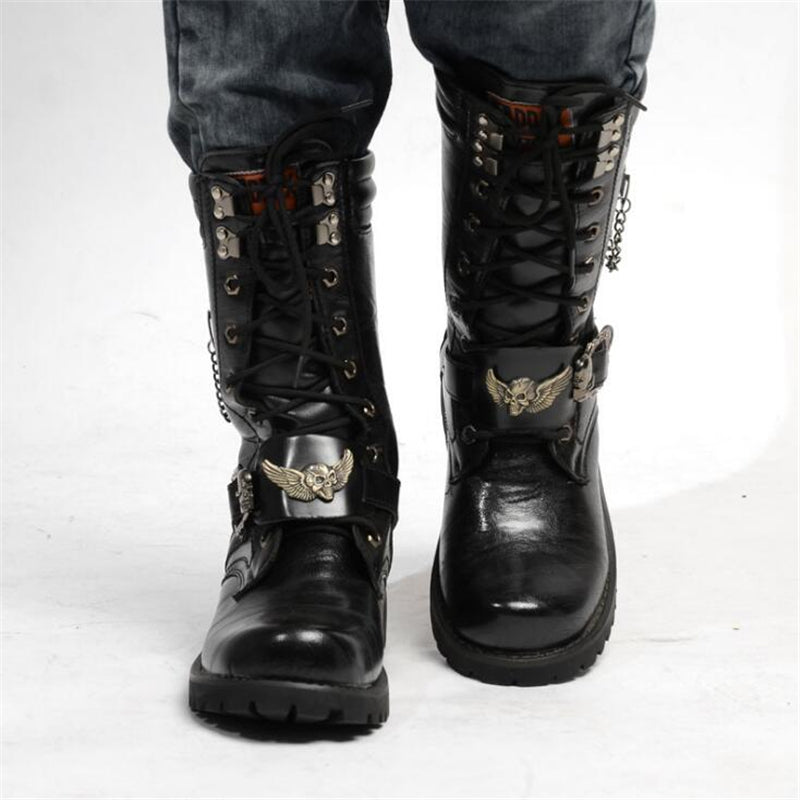 Buckle Boots with Celtic Cross / Rocker Shoes / Rave outfits - HARD'N'HEAVY