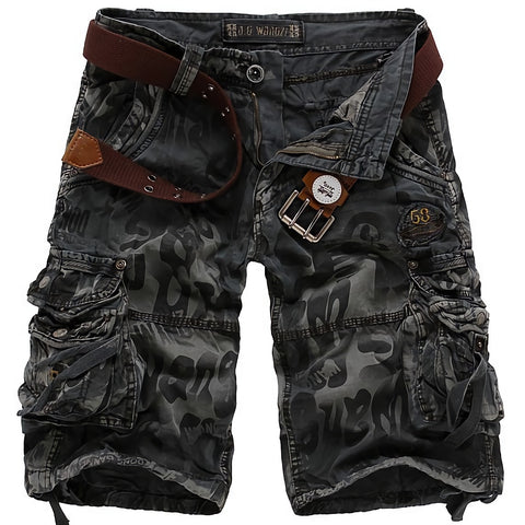 Camouflage Military Cargo Shorts / Jeans Short shorts for men / Male Aesthetic Outfits - HARD'N'HEAVY