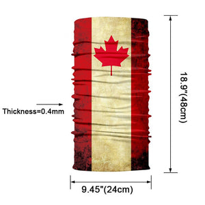 Canada 3D National Flag Print Neck Balaclava-Scarf / Sun Protective Neck Tube Headwear