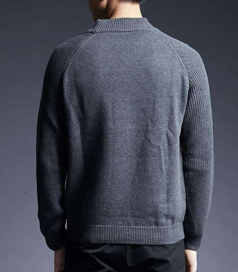 Casual Sweater Men Pullovers Turtleneck Slim Fit Jumpers Knitwear Thick Clothes in Rock Style - HARD'N'HEAVY
