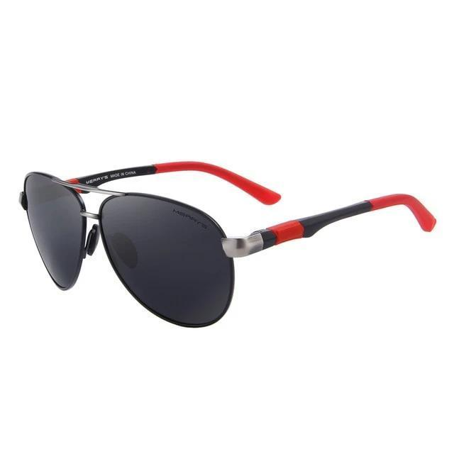 Classic Pilot HD Polarized Sunglasses For Driving Aviation with Alloy Frame - HARD'N'HEAVY