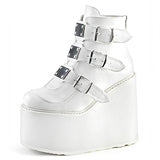 Classic Wedges Womens Platform Ankle Boots / Platform Shoes for Women with Metal Buckles
