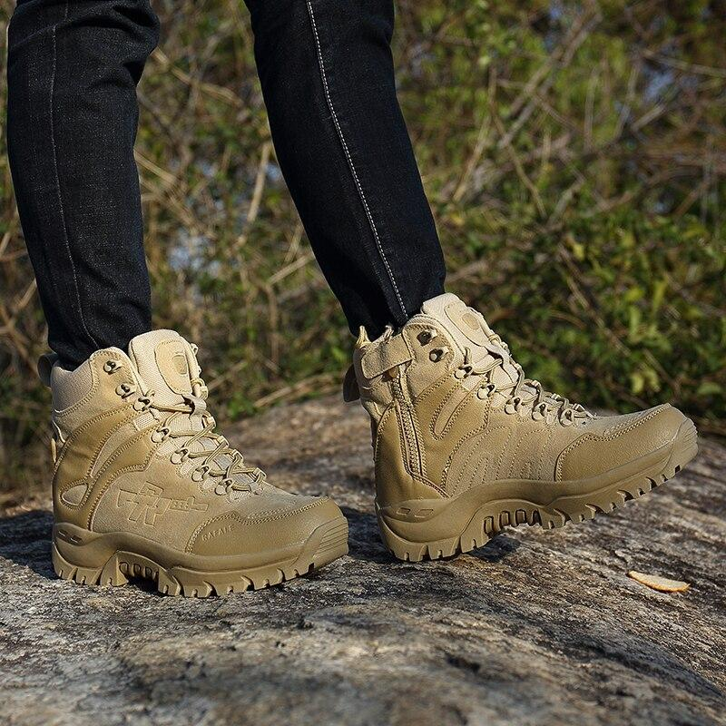 Combat Boots / Alternative Fashion Aesthetic Shoes / Men Tactical Military Safety Shoes - HARD'N'HEAVY
