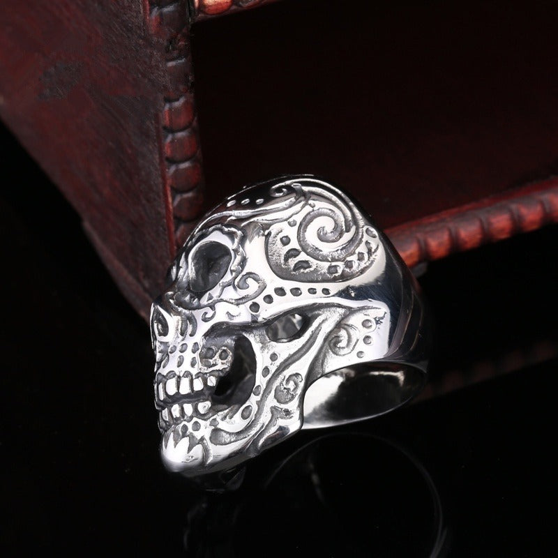 Cool 316L Stainless Steel Skull Ring Vintage Punk Biker Jewelry / Gothic rings - HARD'N'HEAVY