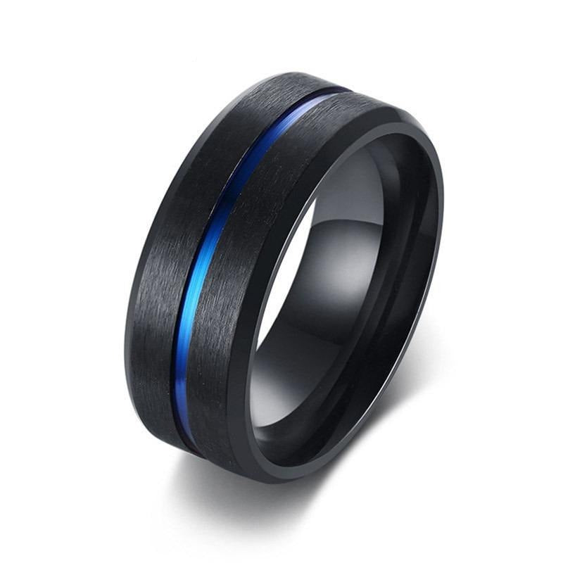 Cool Spinner Rings for Men & Women / Black Stainless Steel Engraved Ring / Mens Rings - HARD'N'HEAVY