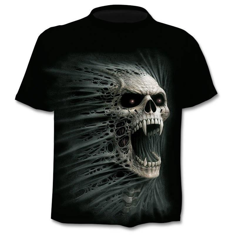Death Design T-shirt / Men Heavy-Metal Reaper Skull / Rock Style 3D printed Streetwear 0650 - HARD'N'HEAVY