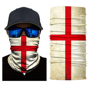 England 3D National Flag Print Neck Balaclava-Scarf / Sun Protective Neck Tube Headwear