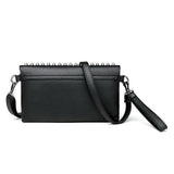 Evening Clutch Women's Bag in Rock Style / Rivet Star Female Shoulder Bag / Classic Crossbody Purse - HARD'N'HEAVY