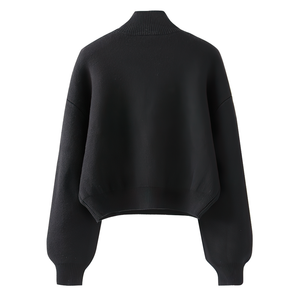 Fashion Long Sleeve Women's Sweater / Turtleneck Hollow Out Chain Streetwear