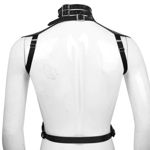 Faux Leather Body Chest Harness / Slim Fit Top Harness / Sexy Cosplay Costume Bondage