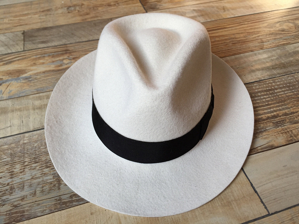 Fedora Hat with wide Brim / Woolen Elegant Unisex Hat / Grunge Outfits - HARD'N'HEAVY