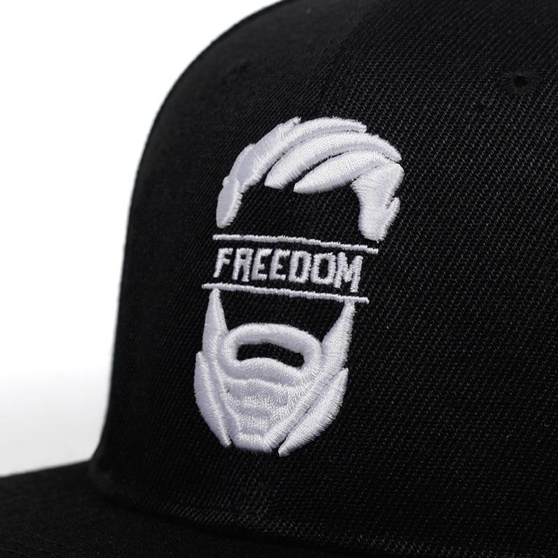 Freedom embroidery snapback baseball cap / Rock Style caps for men & women / vintage character hats - HARD'N'HEAVY