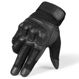 Full Finger Tactical Gloves in Military Style / Airsoft Combat PU Leather Touch Screen Gloves