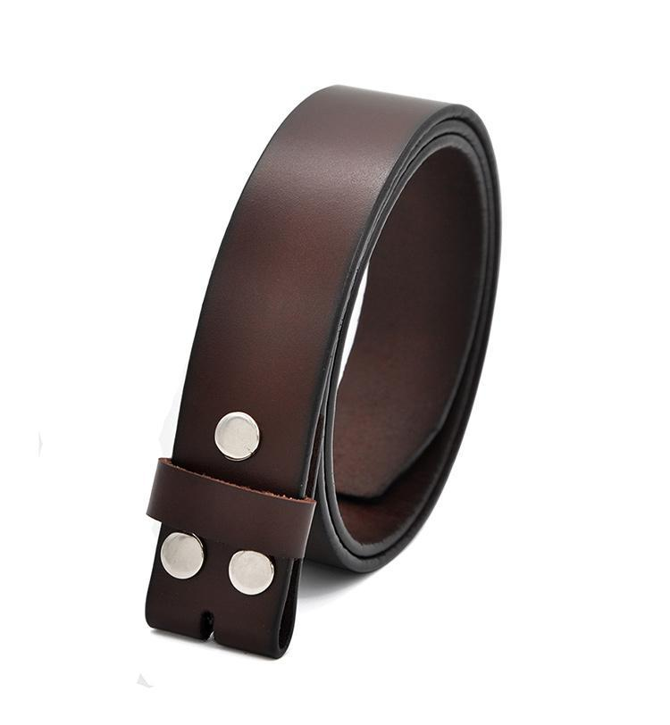 "Genuine Leather Belts Without Buckle for Men Strap Jeans Cowskin Strap One Layer Leather 29""-42"" - HARD'N'HEAVY"