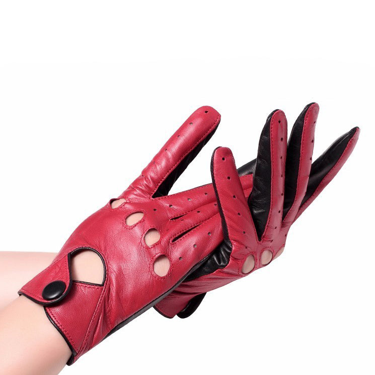 Genuine Leather Rock Chick gloves / Alternative Fashion leather mittens / Punk style women - HARD'N'HEAVY