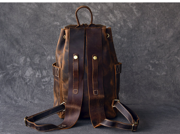 Genuine Leather travel Backpack / Rocker fashion / Steampunk fashion - HARD'N'HEAVY