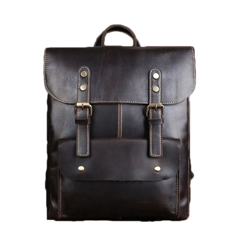 Genuine Leather Vintage Bags / Rave outfits / Urban Style Backpack - HARD'N'HEAVY