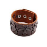 Genuine Leather Wide Bracelets in Original Style / Bangles Wrap Bracelet / Unisex Cuff Wristband - HARD'N'HEAVY