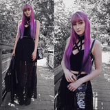 Gothic Hollow Out Black Camis with Pentagram / Women's Tank Top Halter / Female Backless Clothing - HARD'N'HEAVY