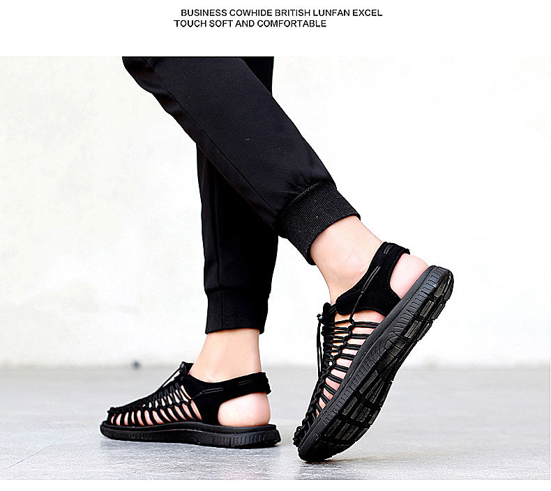 Gothic Style Sandals / Unisex Breathable Comfortable Quality Shoes / Rave Outfits - HARD'N'HEAVY