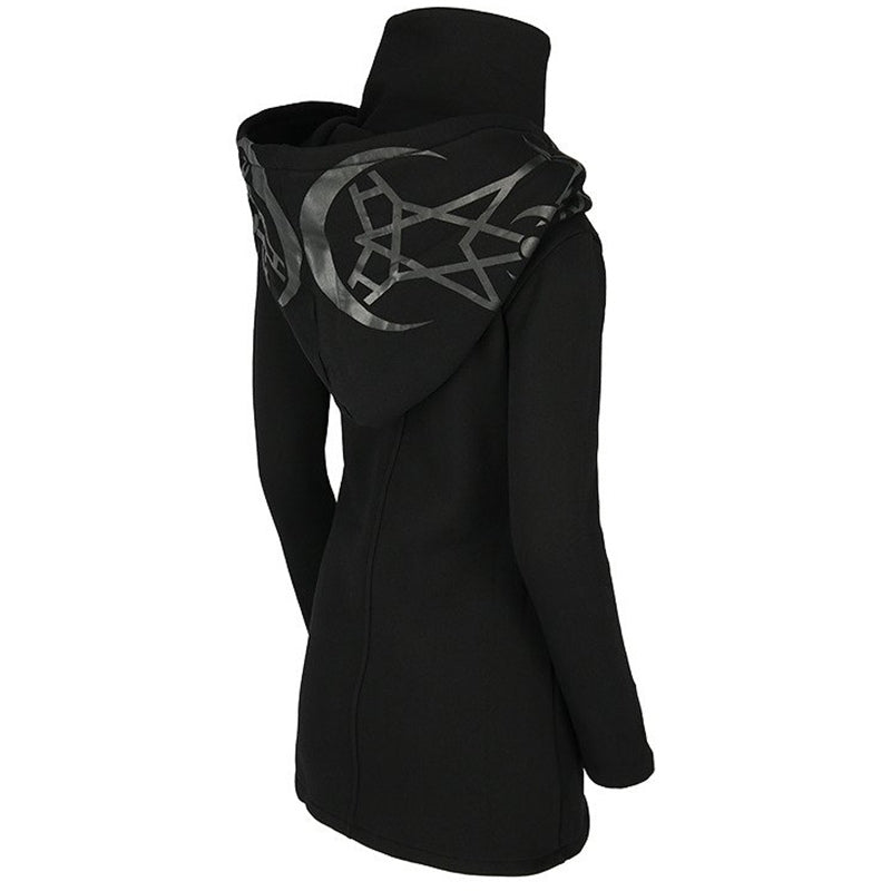Gothic Women Hoodie with Long Sleeve / Female Zipper Sweatshirt in Gothic Style - HARD'N'HEAVY