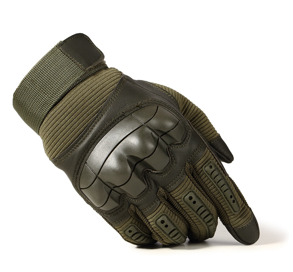 Hard Knuckle Tactical Gloves / PU Leather Army Military Combat Paintball Swat mittens - HARD'N'HEAVY
