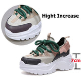 Height Increasing 6 CM Women Running Shoes / Female Sport Aesthetic Shoes - HARD'N'HEAVY