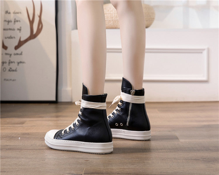 High top sneakers / Shoes for Rock lovers / retro platform Alternative Fashion Unisex Shoes - HARD'N'HEAVY