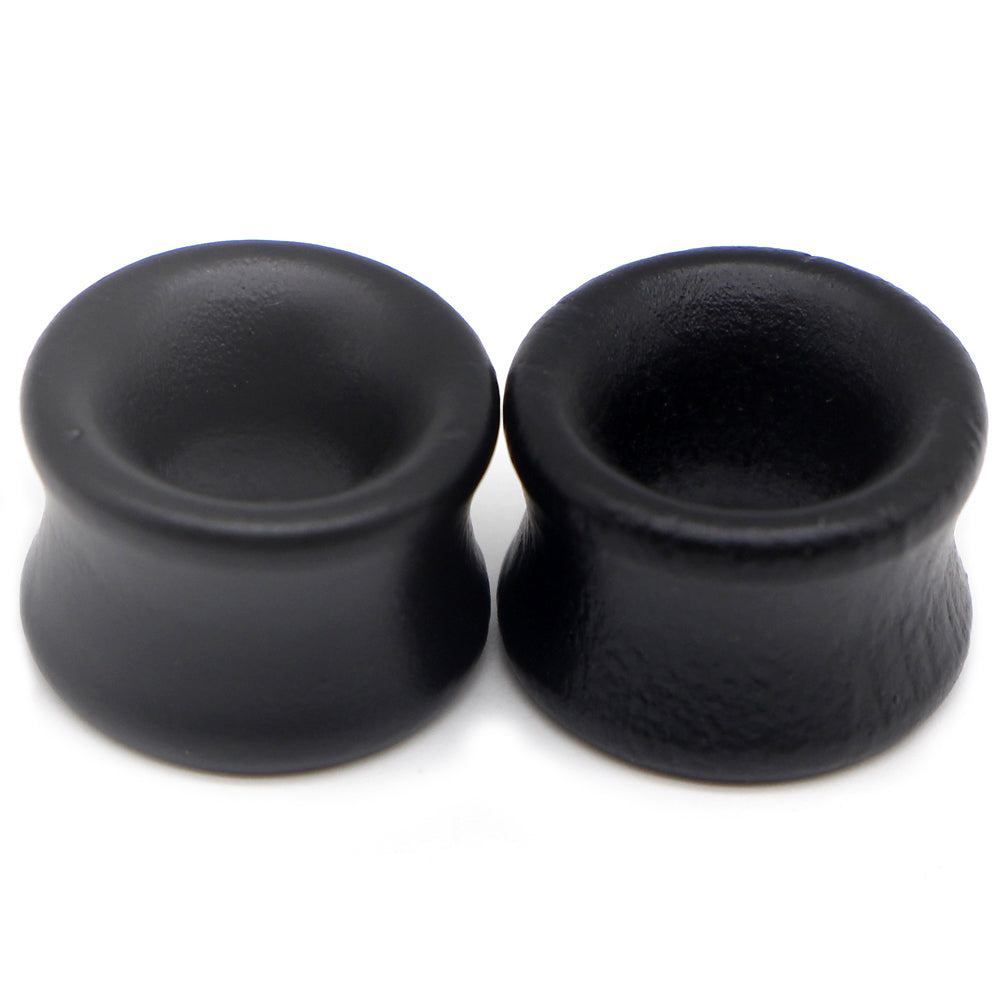 Hollow Black Plugs and Tunnels / Earrings Stretcher / Wood Expander Body Piercing - HARD'N'HEAVY