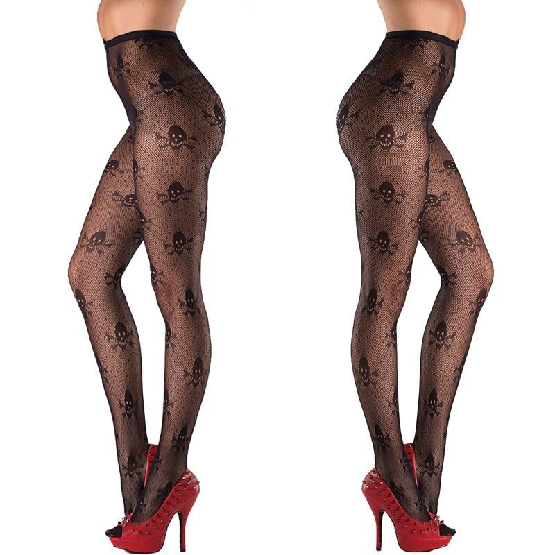 Hot Sexy Stockings with Skull / Womens Gothic Clothing - HARD'N'HEAVY