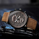 Vintage Bronze Creative Skull Sport Quartz Watch with Skull - HARD'N'HEAVY