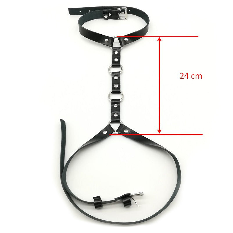 Leather Body Harness / Gothic Bondage Belt / Women Cosplay Festival Outfit - HARD'N'HEAVY