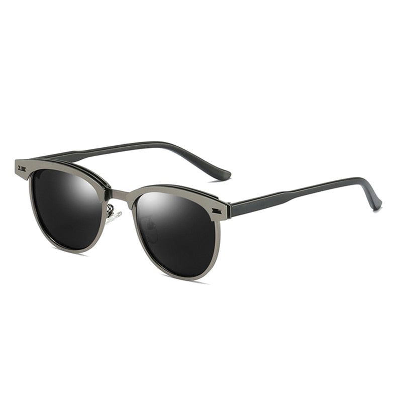 Luxury Metal Polarized Sunglasses for Men and Women / Small Round Driving Sunglasses Fashion - HARD'N'HEAVY