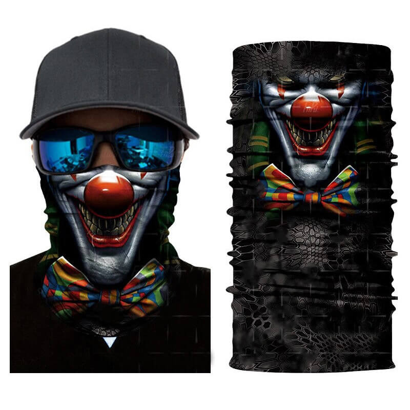 Magic Scarf-Balaclava for Neck / Ghost Skull Face Cover / Biker Bandanas Headwear #10 - HARD'N'HEAVY